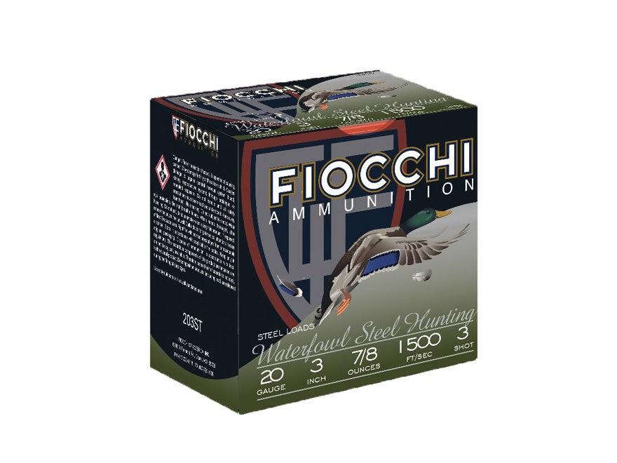 """Fiocchi High Speed Steel Ammunition 20 Gauge 3"""" 7/8 oz #3 Non-Toxic Steel Shot"""