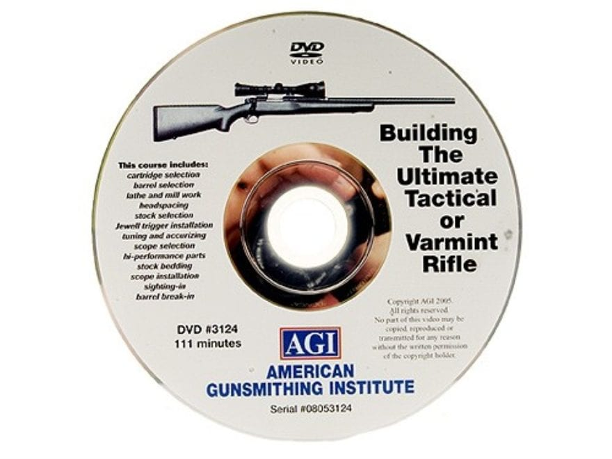 "American Gunsmithing Institute (AGI) Video ""Building the Tactical or Varmint Rifle"" DVD"