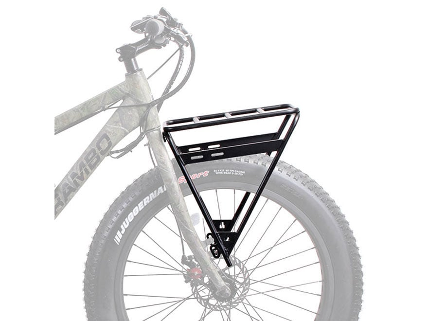 Rambo Bikes Front Luggage Rack Aluminum Black
