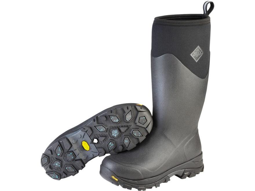 "Muck Arctic Ice 16"" Waterproof 8mm Insulated Hunting Boots Neoprene/Rubber Black Men's"