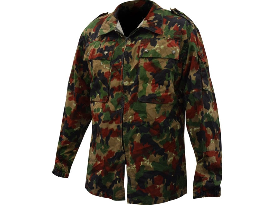 Military Surplus Swiss Camo M83 Field Jacket