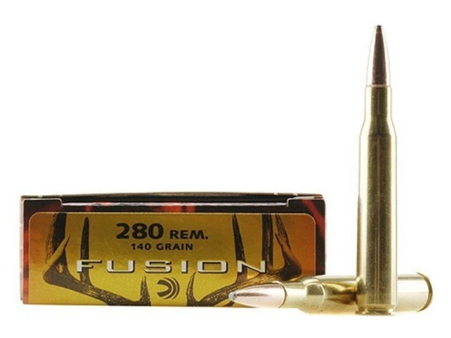 Federal Fusion Ammunition 280 Remington 140 Grain Spitzer Boat Tail Box of 20
