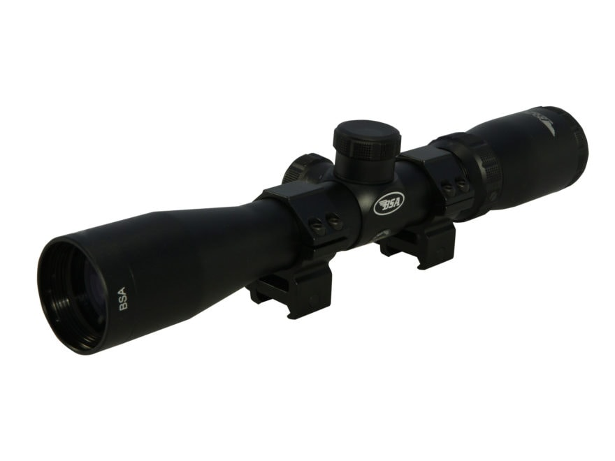 BSA Tactical Weapon Rifle Scope 30mm Tube 3-16x 44mm Mil-Dot Reticle Matte with Weaver-...