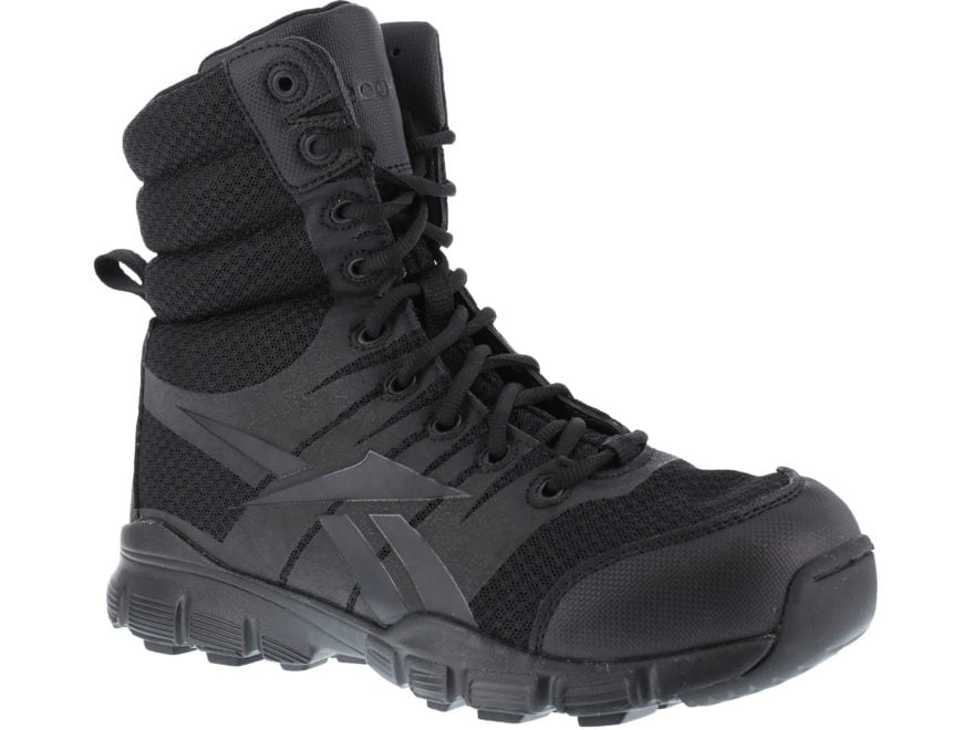 "Reebok Dauntless Ultra-Light 8"" Side-Zip Tactical Boots Leather/Nylon Men's"