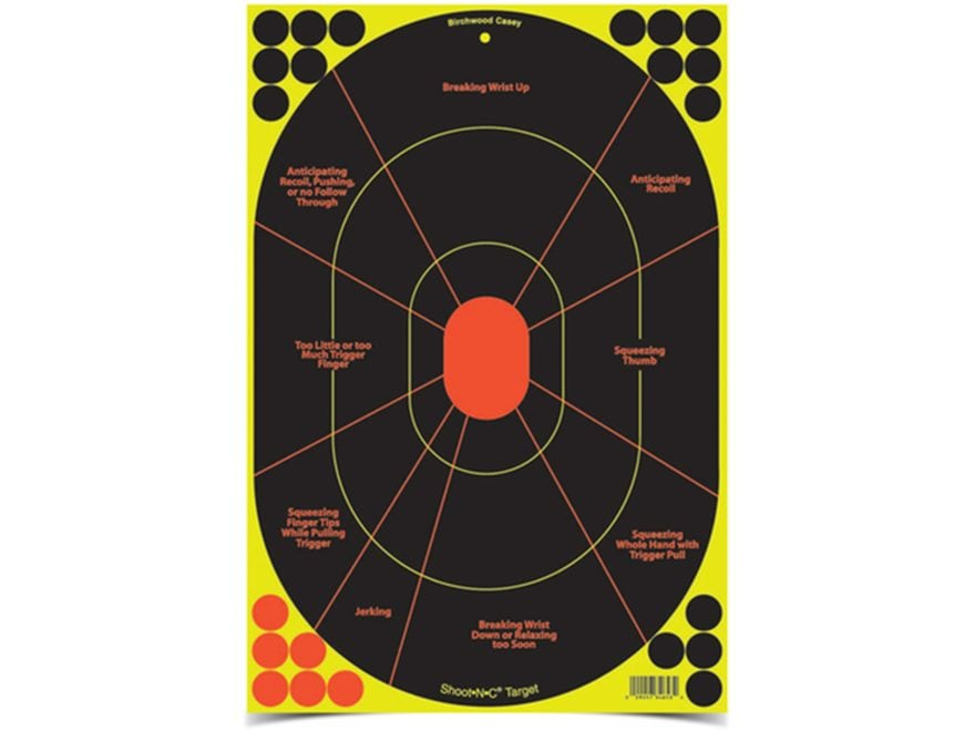 "Birchwood Casey Shoot-N-C Target 12"" x 12"" Handgun Trainer"