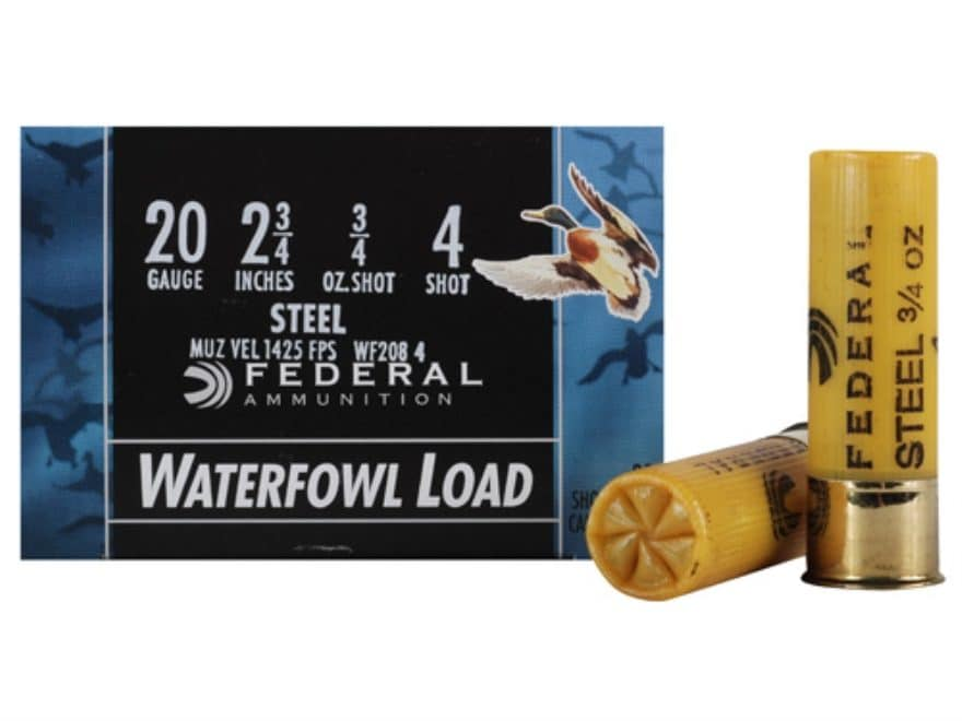 Federal Speed-Shok Waterfowl Ammunition 20 Gauge Non-Toxic Steel Shot