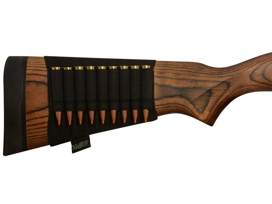 MidwayUSA Buttstock Rifle Ammunition Carrier Black