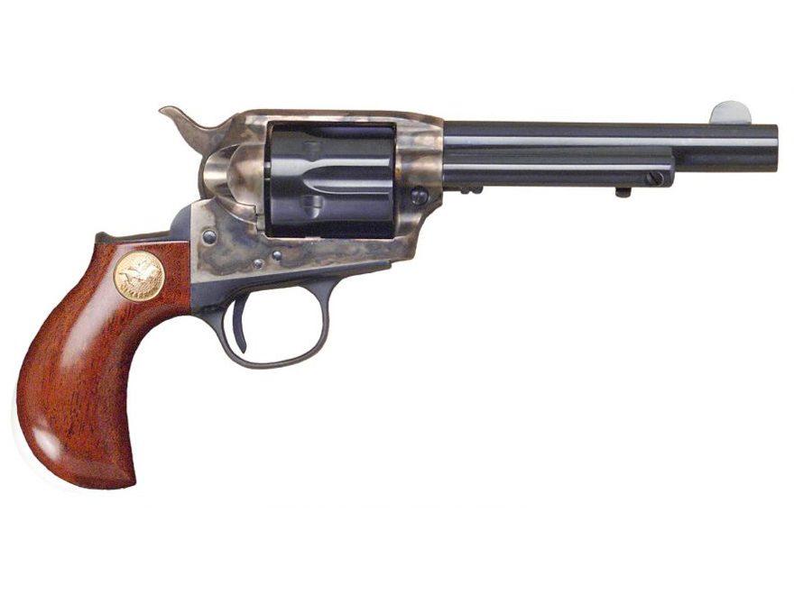 Cimarron Lightning Revolver 38 Special Birdshead Grip 6-Round Color Case Hardened, Blue...