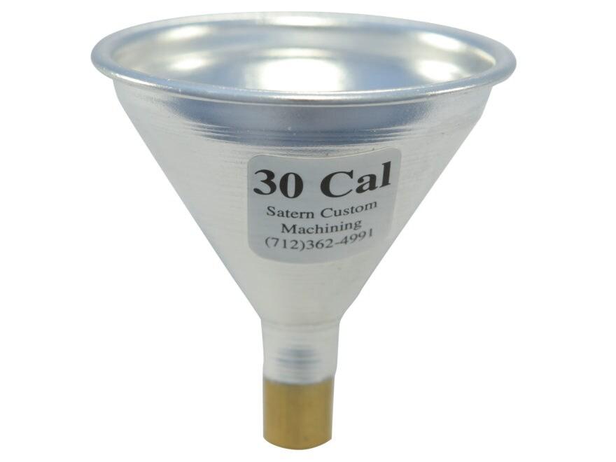 Satern Powder Funnel 30 Caliber Aluminum and Brass