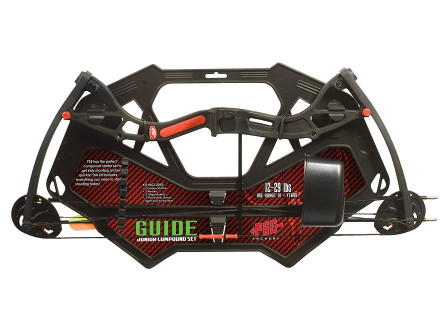 PSE Guide Youth Compound Bow Package Right Hand 12-29 lb Black