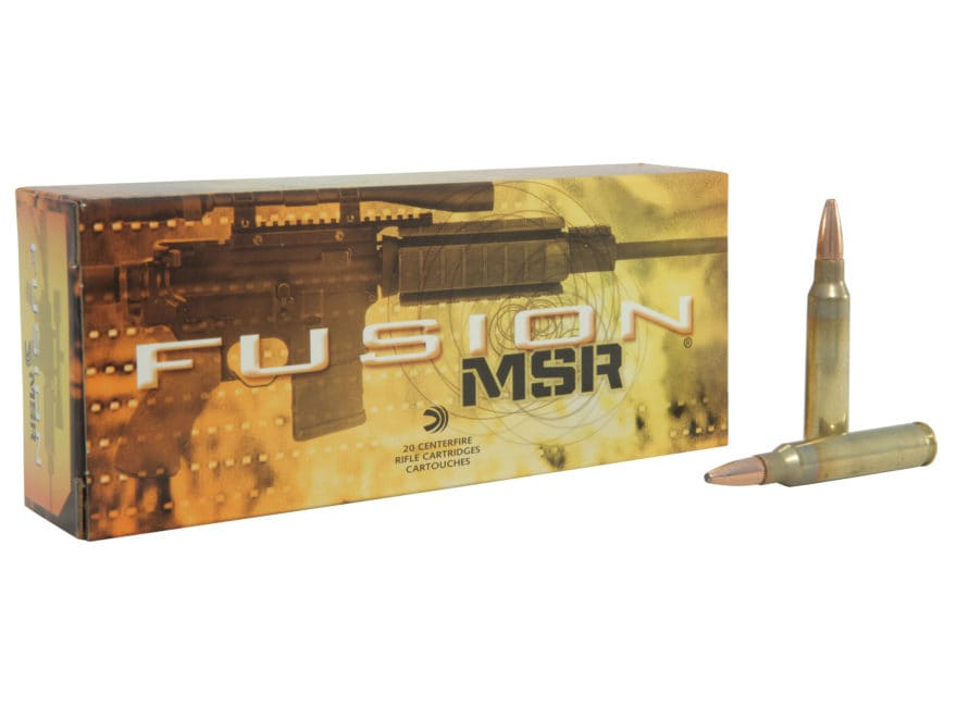 Federal Fusion MSR Ammunition 223 Remington 62 Grain Spitzer Boat Tail Box of 20