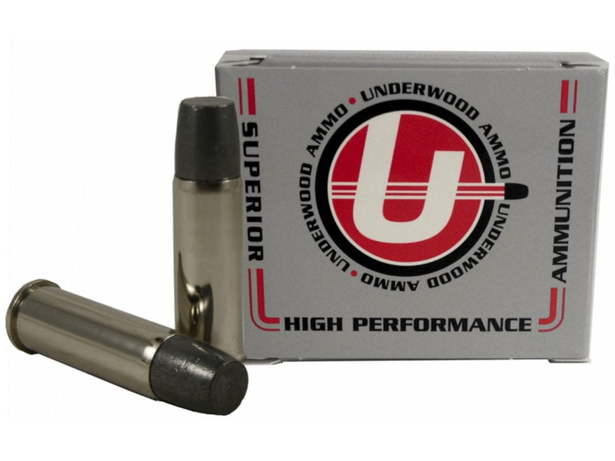 Underwood Ammunition 44 Remington Magnum +P+ 340 Grain Lead Flat Nose Gas Check Box of 20