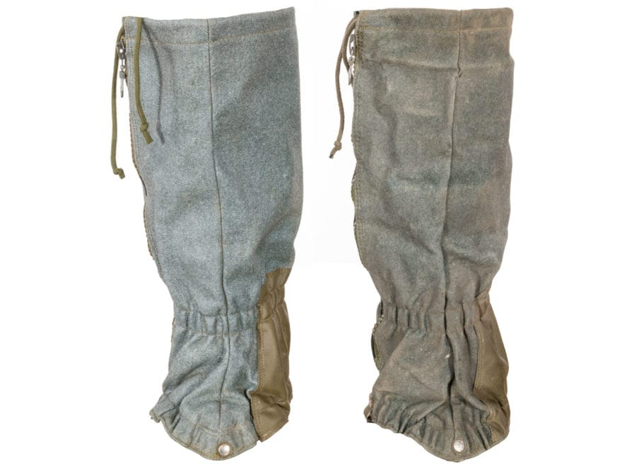 Military Surplus Swiss Mountain Gaiters with Zippers Grade 1