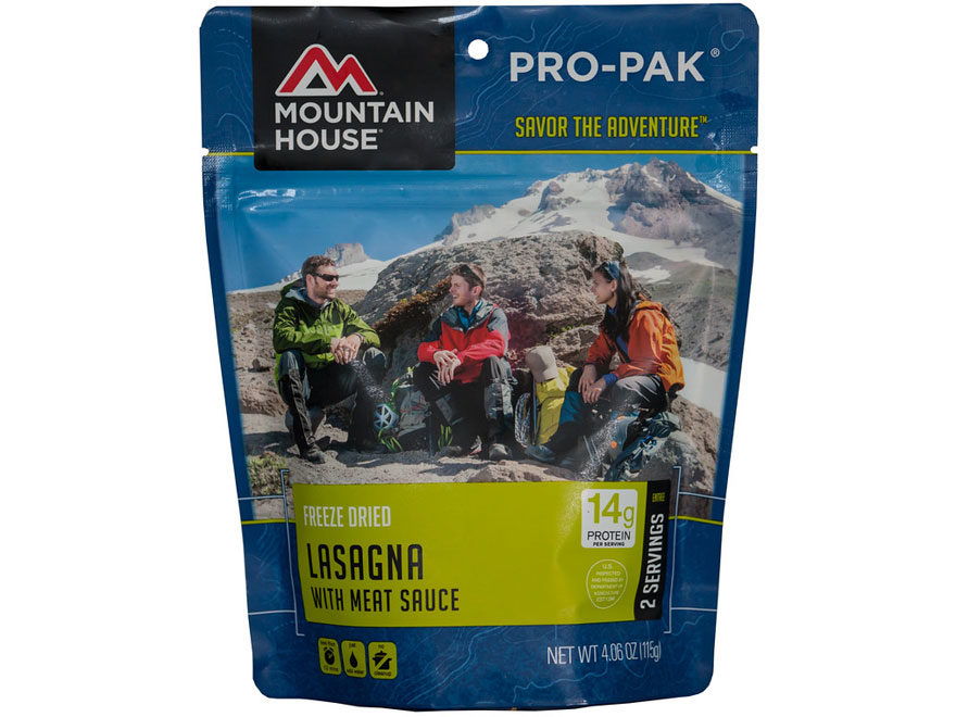 Mountain House Pro-Pak Vacuum-Sealed Lasagna with Meat Sauce Freeze Dried Food 4.06 oz