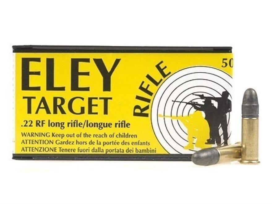 Eley Target Rifle Ammunition 22 Long Rifle 40 Grain Lead Round Nose Box of 500 (10 Boxe...