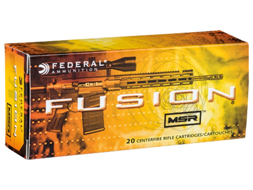 Federal Fusion MSR Ammunition 300 AAC Blackout 150 Grain Spitzer Boat Tail Box of 20