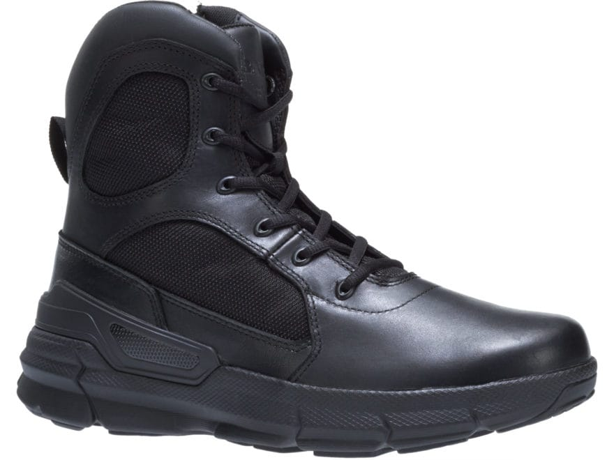 "Bates Charge 6"" Tactical Boots Leather/Nylon Side-Zip Men's"