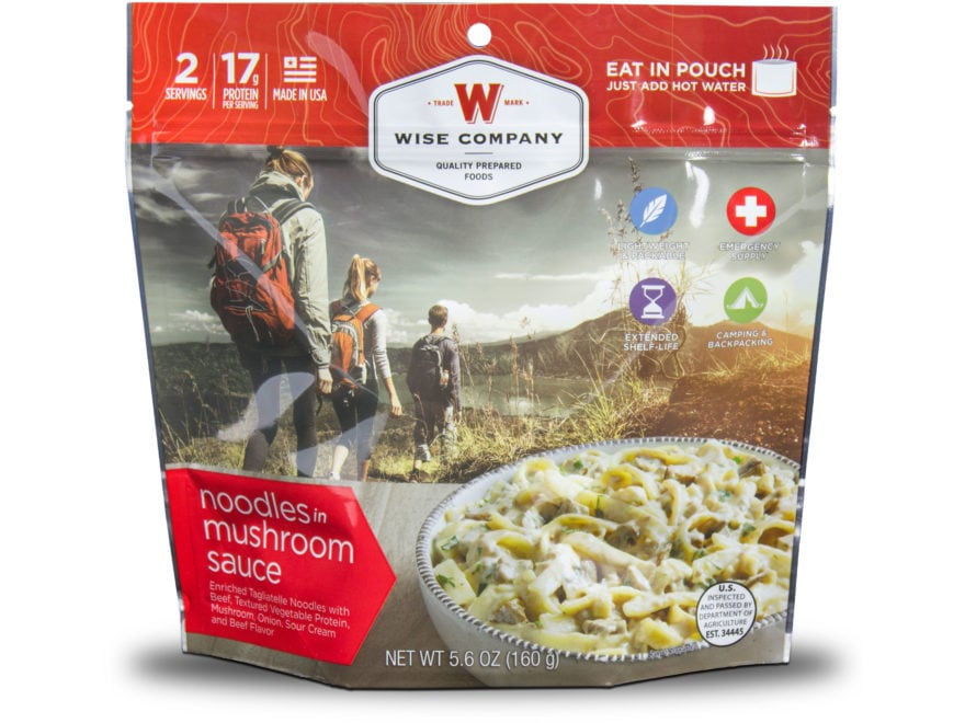 Wise Company Outdoor Noodles & Beef Freeze Dried Food Pack of 6