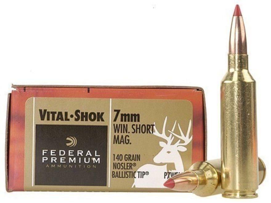 federal premium vital shok ammo 7mm winchester mpn p7wsmb 20