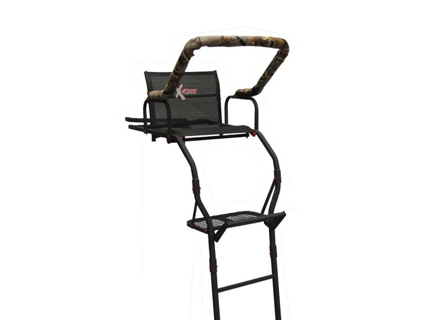 X-Stand The Lookout 17' Single Ladder Treestand Steel Black