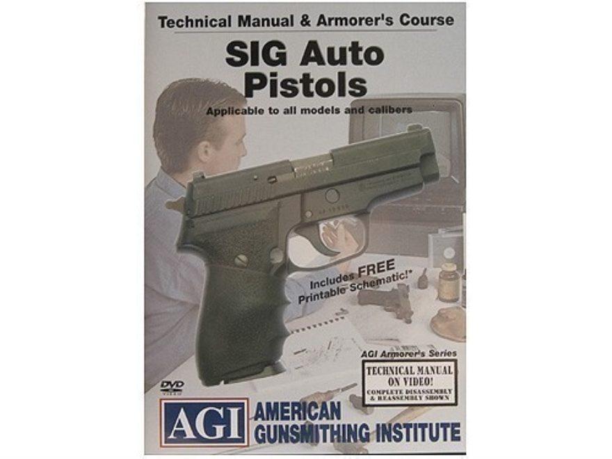 "American Gunsmithing Institute (AGI) Technical Manual & Armorer's Course Video ""Sig Sau..."