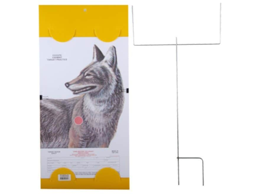 """EZ Target Coyote Master Pack Target 14"""" x 22"""" Paper Pack of 15 with Stand and Backer"""