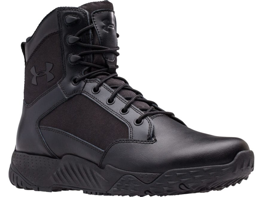 "Under Armour UA Stellar 8"" Tactical Boots Leather and Nylon Black Men's"