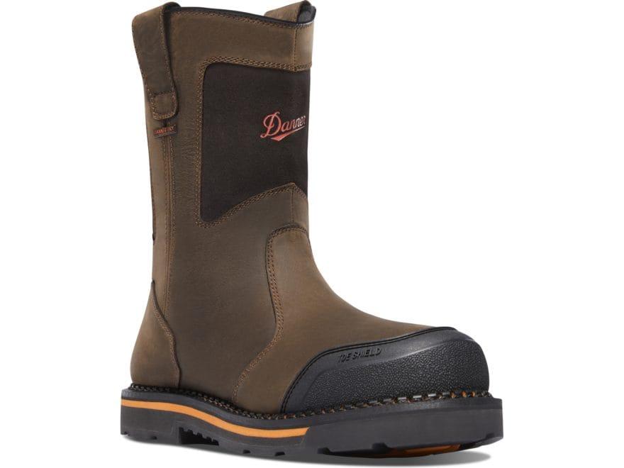"Danner Trakwelt Wellington 11"" Non-Metallic Toe Work Boots Leather Brown Men's"