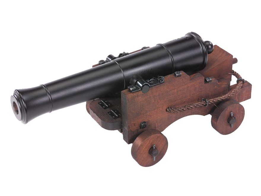 "Traditions Old Ironsides Black Powder Cannon 69 Caliber 12.5"" Steel Barrel Hardwoods Ca..."