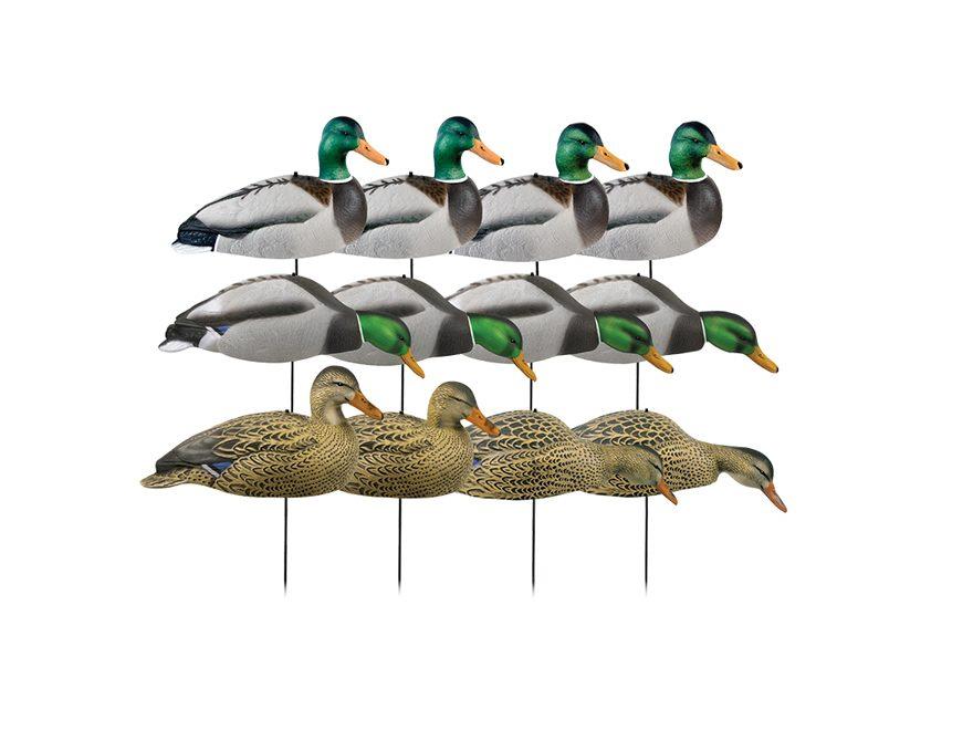 GHG Over-Size Harvester Pack Mallard Shell Duck Decoy Pack of 12