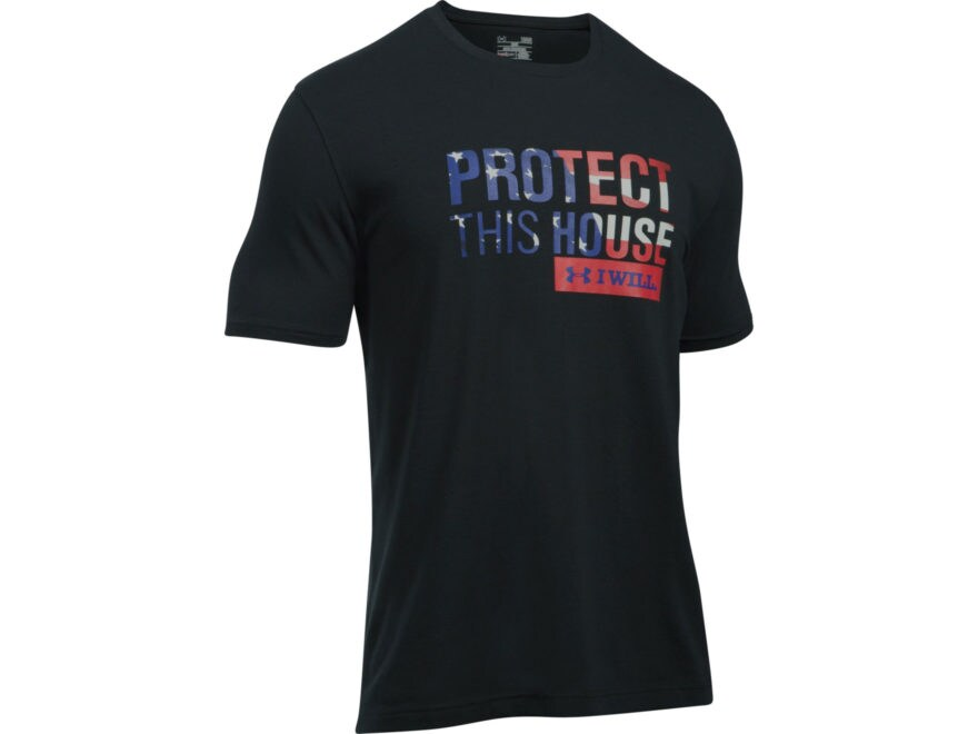 Under Armour Men's UA Freedom Protect This House T-Shirt Short Sleeve Charged Cotton