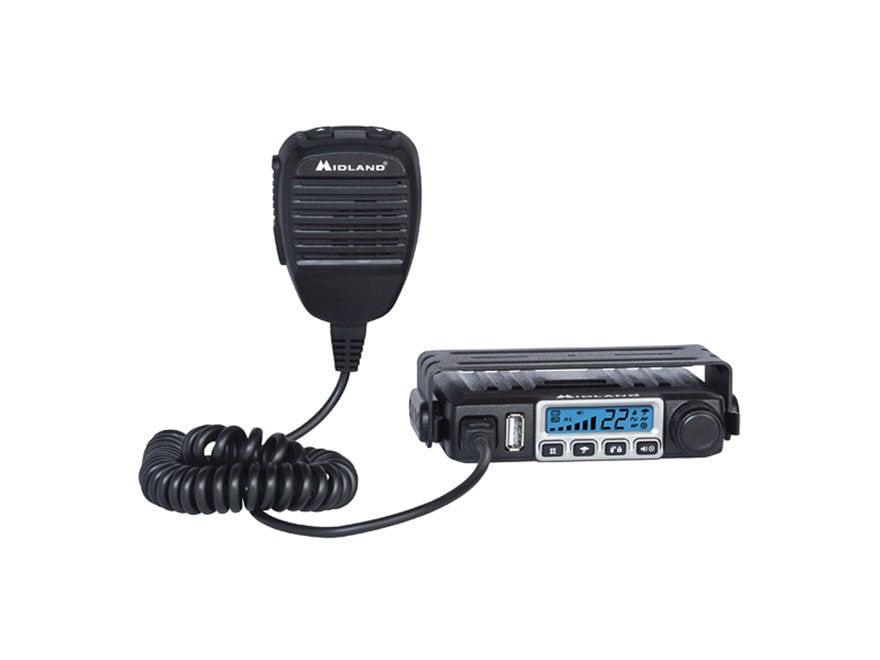 Midland MXT115 MICROMOBILE GMRS 2-Way Radio with NOAA Combo Black