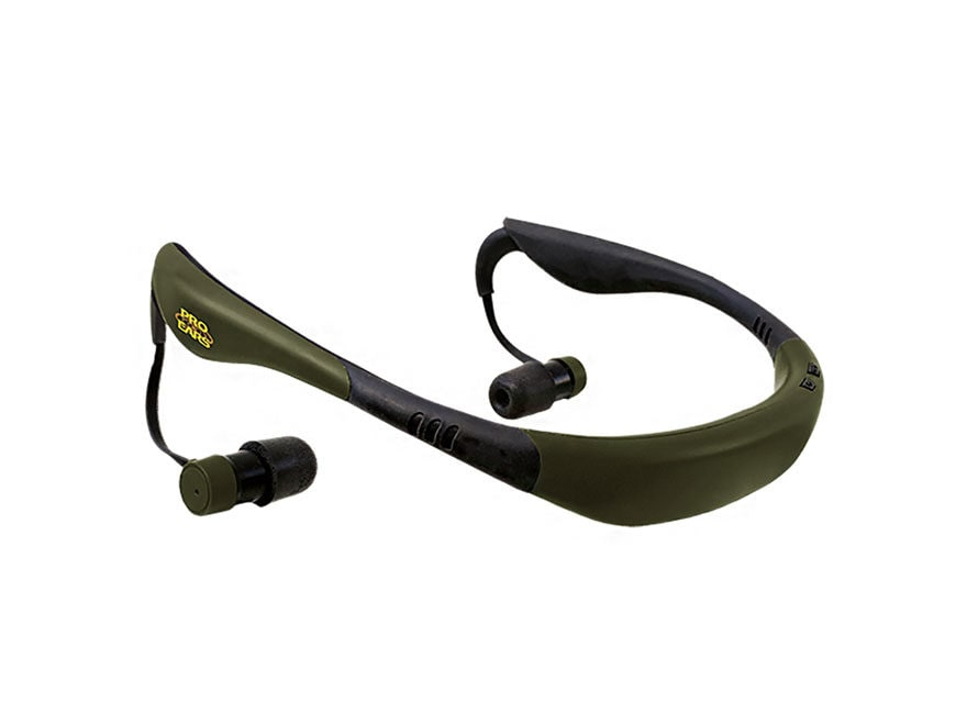 Pro Ears Stealth 28 Neck Worn Rechargeable Electronic Ear Plugs (NRR 28dB) Green
