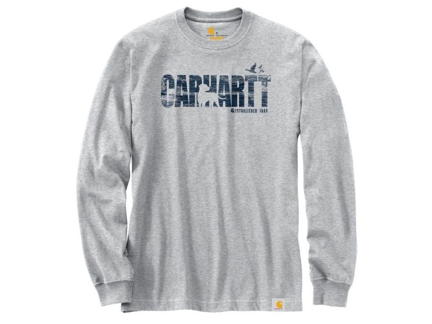eabc7e48 Carhartt Men's Workwear Dog Graphic T-Shirt Long Sleeve Cotton/Polyester