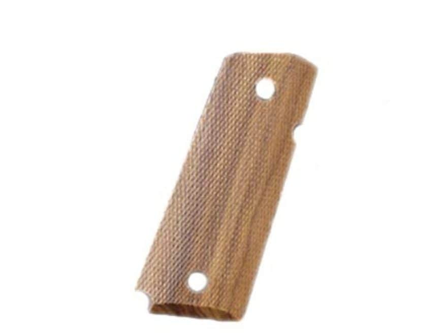 Hogue Fancy Hardwood Grips 1911 Officer Ambidextrous Safety Cut Checkered