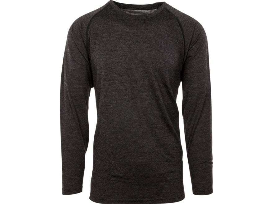 MidwayUSA Men's Lightweight Merino Wool Long Sleeve Base Layer Shirt