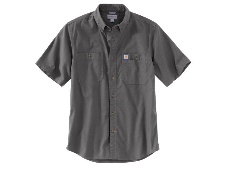 Carhartt Men's Rugged Flex Rigby Button-Up Work Short Sleeve Shirt Cotton/Spandex