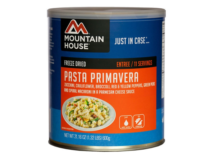 Mountain House 11 Serving Pasta Primavera Freeze Dried Food #10 Can