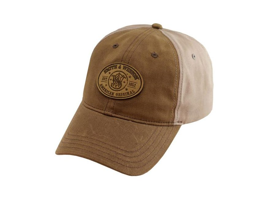 Smith & Wesson Leather Patch Cap Brown/Tan