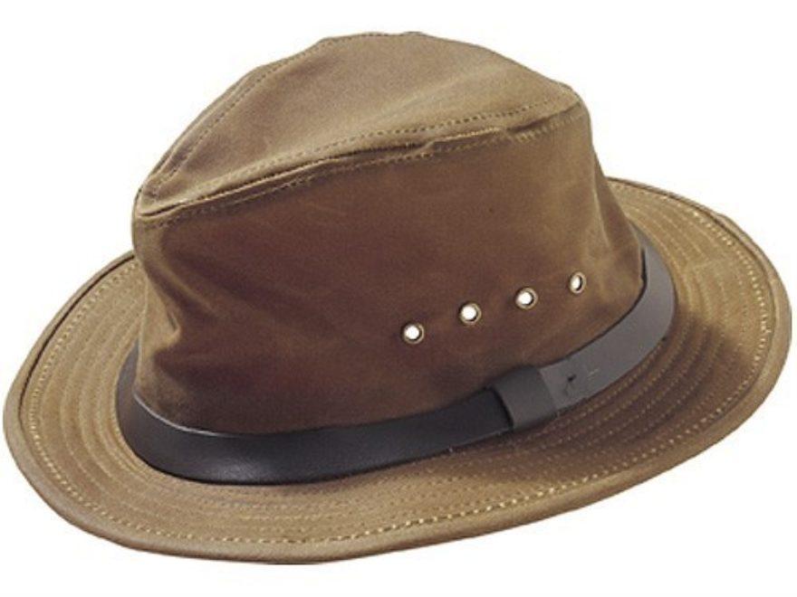 7c0e000f9d40a Filson Tin Cloth Packer Hat Cotton Dark Tan Large. Alternate Image