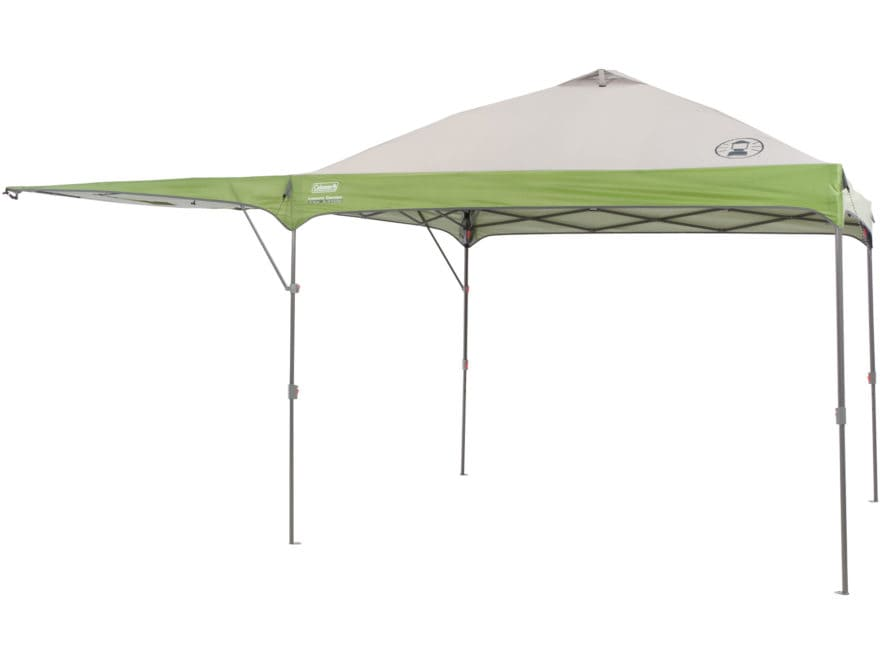 "Coleman Instant Shelter 120""x192"" with Swing Wall Polyester White and Green"