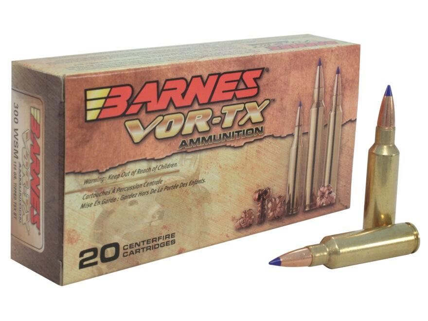 Barnes VOR-TX Ammunition 300 Winchester Short Magnum (WSM) 150 Grain TTSX Polymer Tippe...