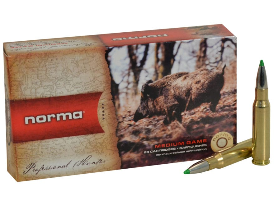 Norma USA American PH Ecostrike Ammunition 308 Winchester 150 Grain Tipped Boat Tail Le...
