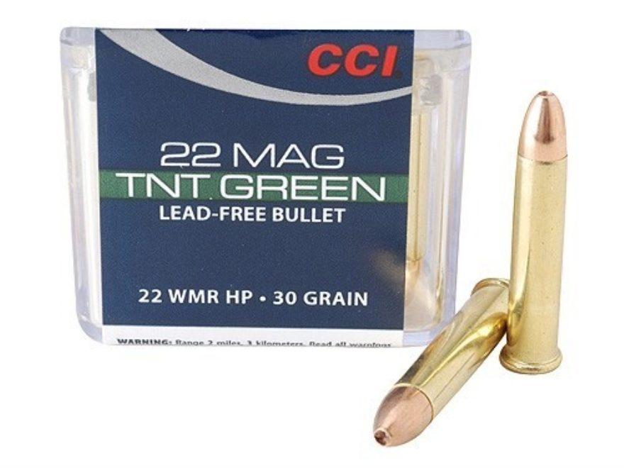 CCI Maxi-Mag Ammunition 22 Winchester Magnum Rimfire (WMR) 30 Grain Speer TNT Green Hol...