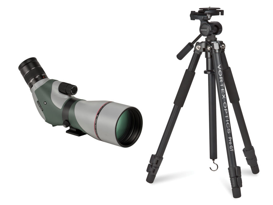 Vortex Optics Razor HD Spotting Scope Combo 20-60x 85mm Angled Body Green with Pro GT T...