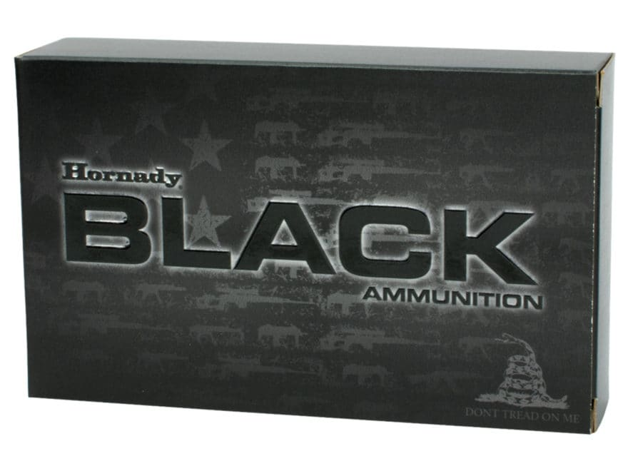 Hornady BLACK Ammunition 5.56x45mm NATO 62 Grain Full Metal Jacket Box of 20