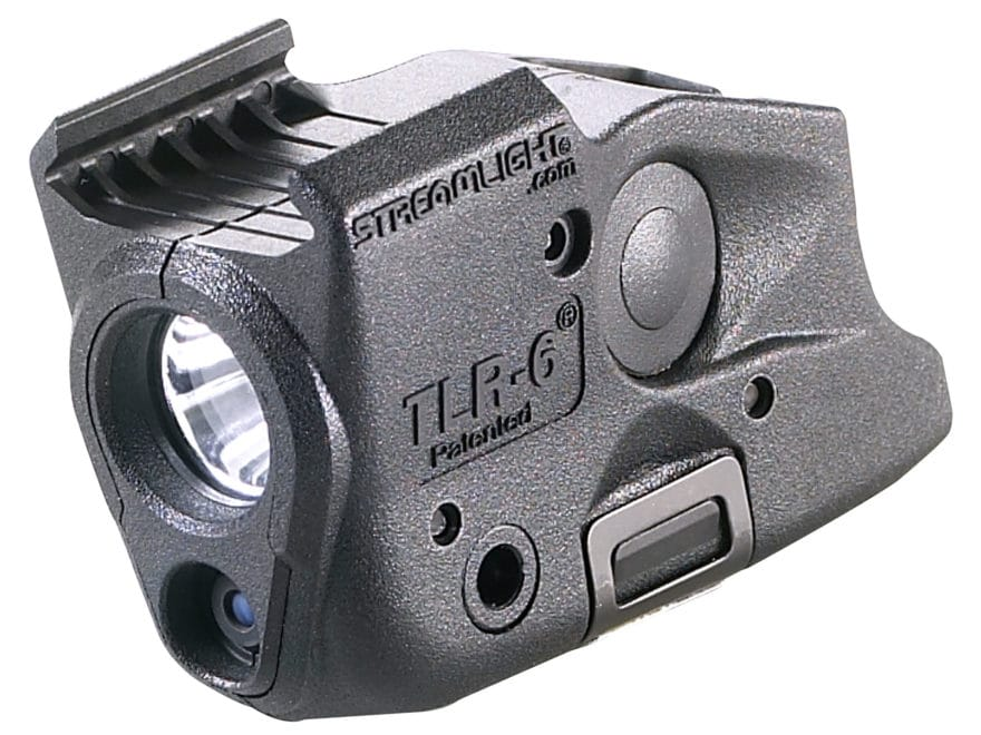Streamlight TLR-6 Rail Glock Weapon Light LED and Laser Polymer Black