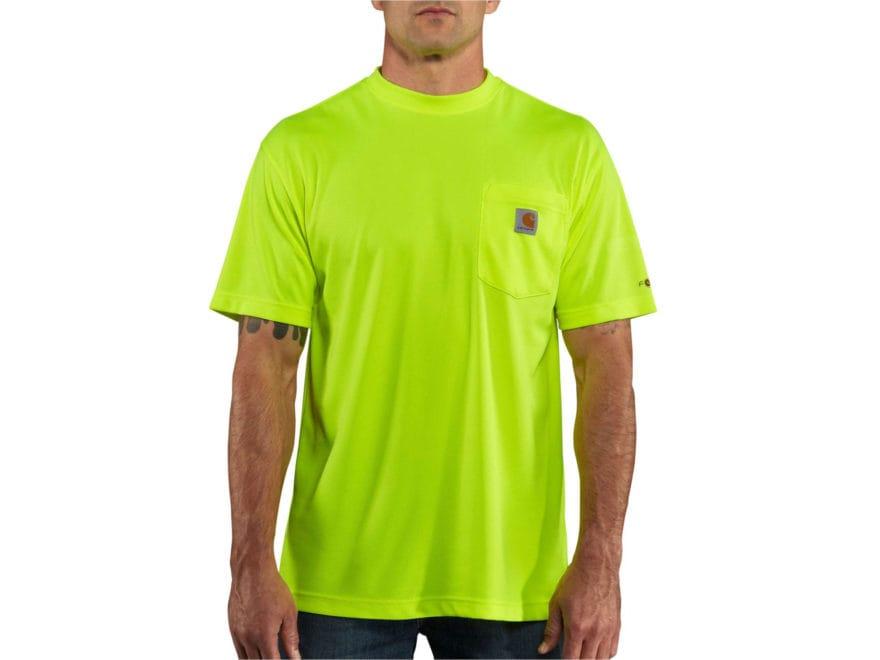 Carhartt Men's HV Force Color Enhanced T-Shirt Short Sleeve Polyester