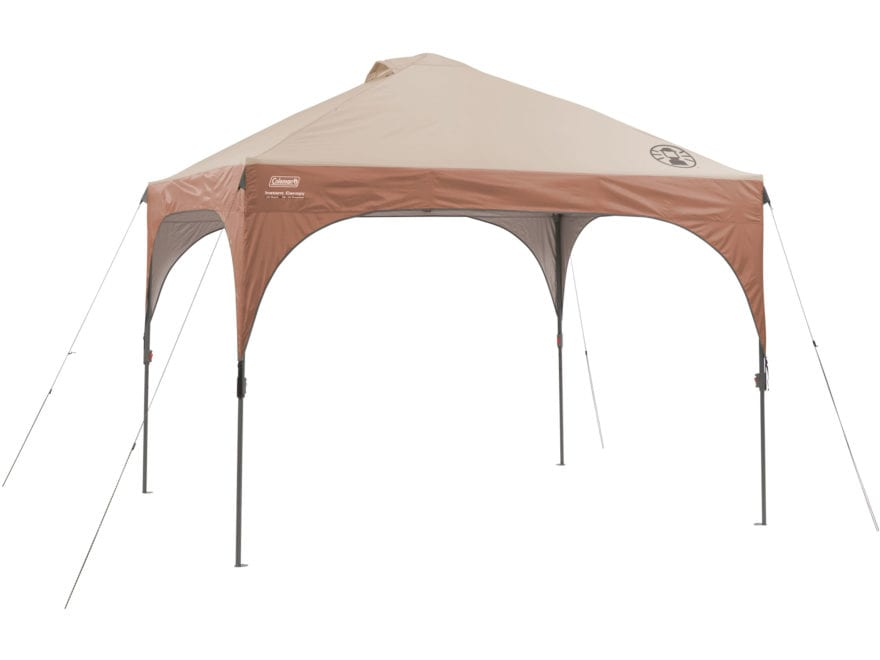"Coleman Instant Lighted Shelter 120""x120"" Polyester Brown and Tan"