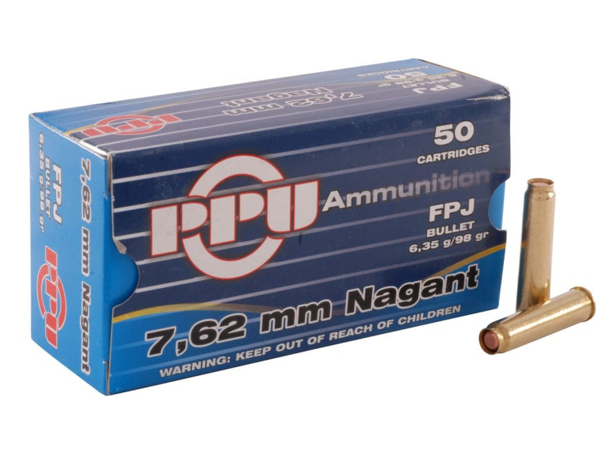 Prvi Partizan Ammunition 7.62mm Russian Nagant (7.62x38mmR) 98 Grain Full Metal Jacket ...
